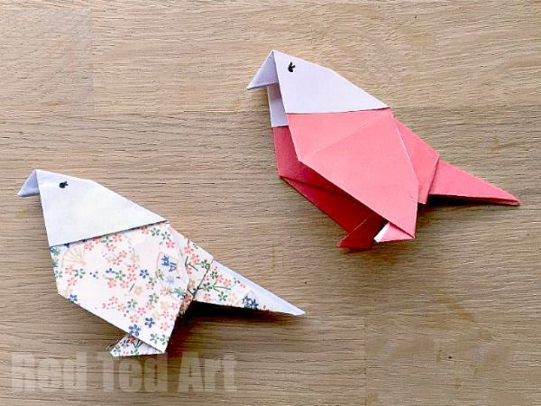 How To Make An Origami Budgie With Images Origami Crafts Origami Easy Paper Birds
