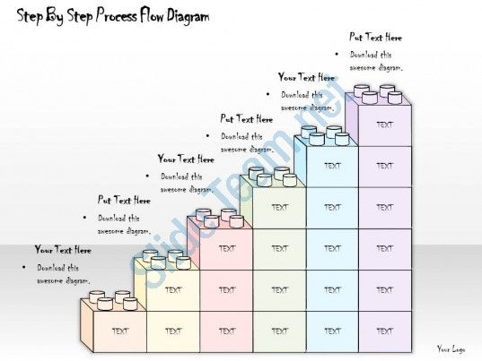 1814 business ppt diagram step by step process flow diagram - process flow diagram template