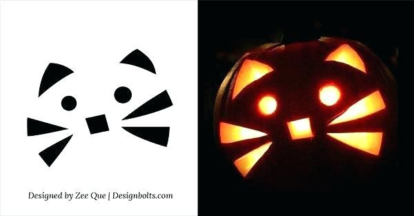 Easy Cool Pumpkin Carvings Patterns Free Printable Cat Carving Ideas Southern Living Ghost Template Jack O Lantern Face