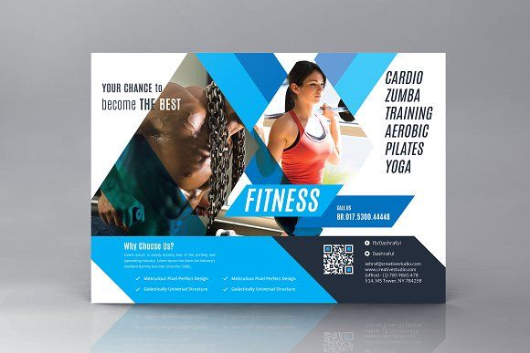Gym Fitness Ad Flyer Creativework  Flyer Templates  Flyers