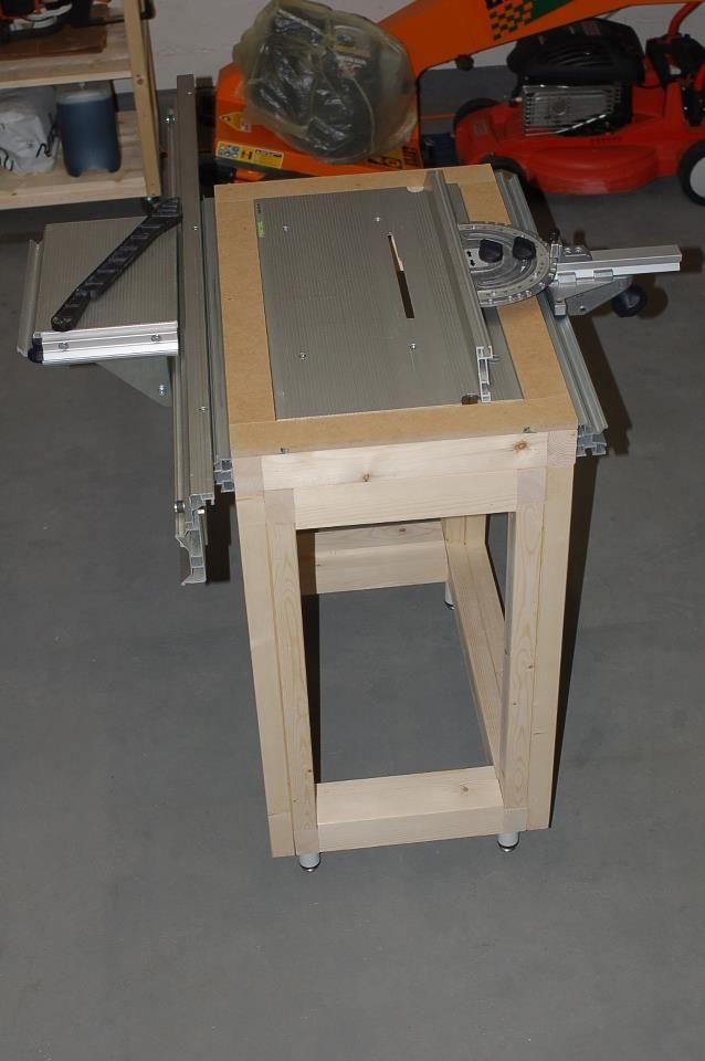 Custom cms table saw for ts55 home made festool stuff for Table festool