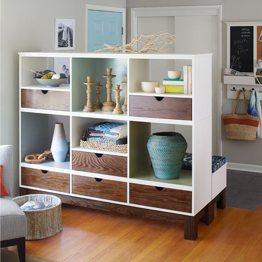 This Modular Room Divider And Bench Serves Double Duty! Define An Entry And  Create A Mini Mudroom With A Partition And Bench. The Room Divider, Made  From ...
