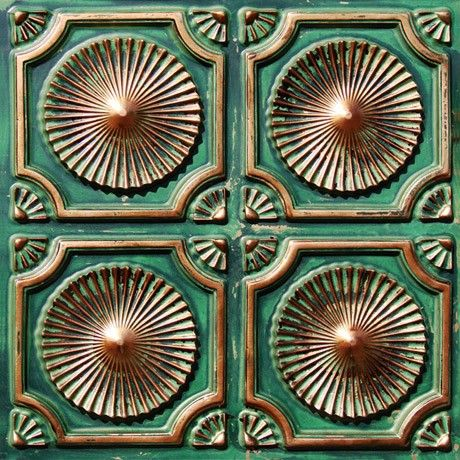 Decorative Plastic Ceiling Tiles Mesmerizing Faux Patina Copper  General  Pinterest  Ceiling Tiles Ceilings Design Ideas
