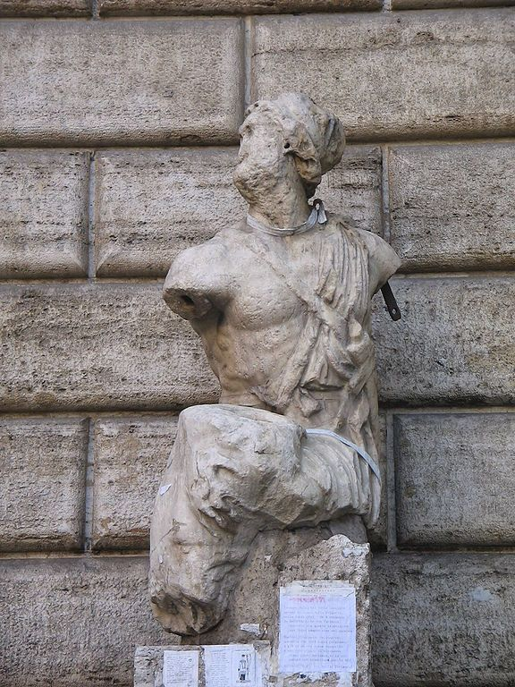 This Is Pasquino The Most Famous Of The Talking Statues Of Rome