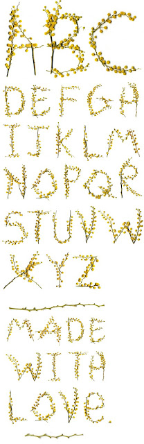 """Love these flower letters built on """"sticks"""" of embroidery"""
