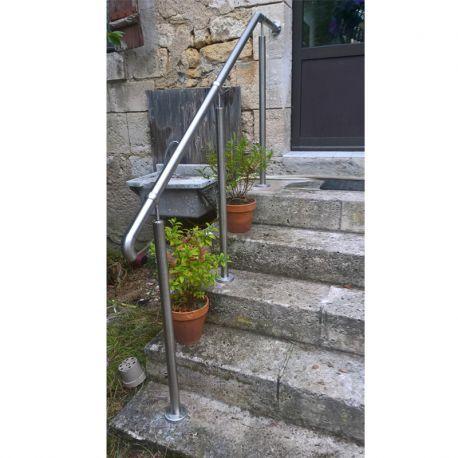 Rampe Du0027accès Inox En Kit Avec BAGUE Pour Escalier, Terrasse Ou Plateforme :