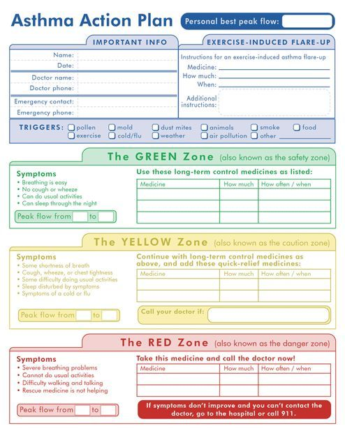 Asthma Action Plan  Just Breathe    Asthma Emergency