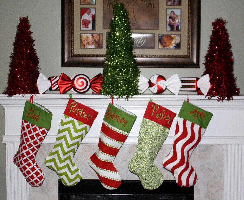 PERSONALIZED CHRISTMAS STOCKING by Sweetlittlethings4u on Etsy, $29.99