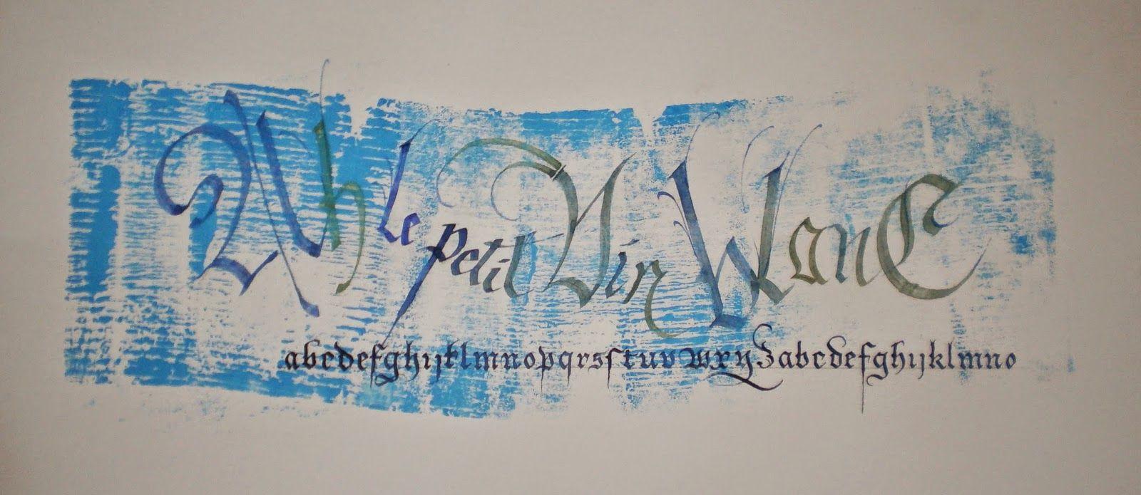 Exercice de Claudie sous la tonnelle   Calligraphie, Exercice