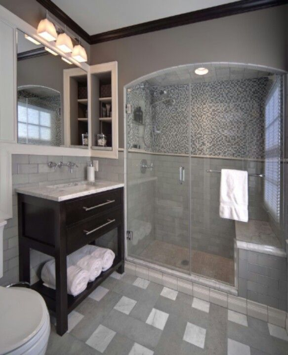 New bathroom here we come #grey #remodel #paint Remodels and