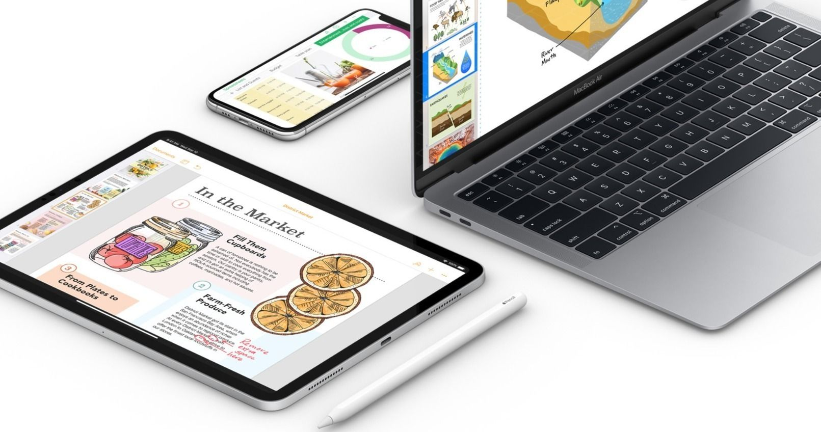 Apple's Pages, Numbers and Keynote Apps All Receive