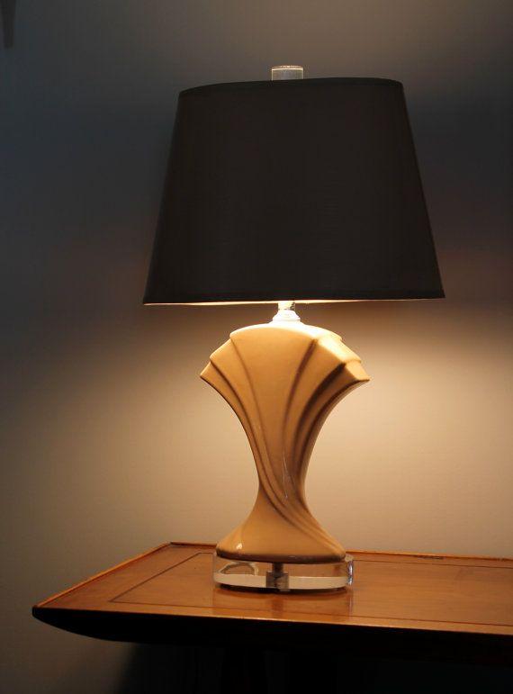 Retro art deco table lamp 70s 80s glamour
