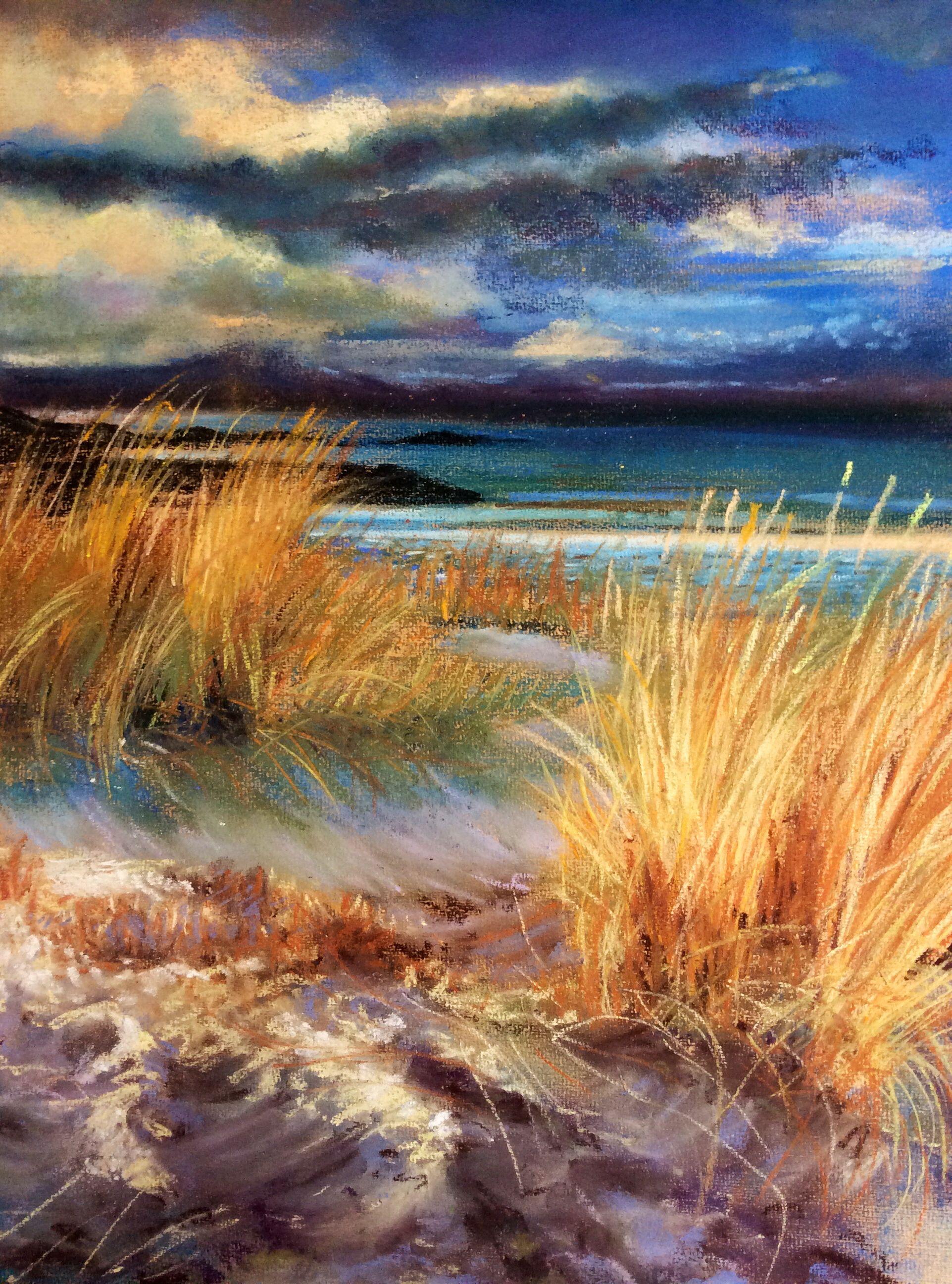 Sand Dunes Pastel Glyn Overton 2014 Sold Landscape Paintings Pastel Landscape Landscape Art