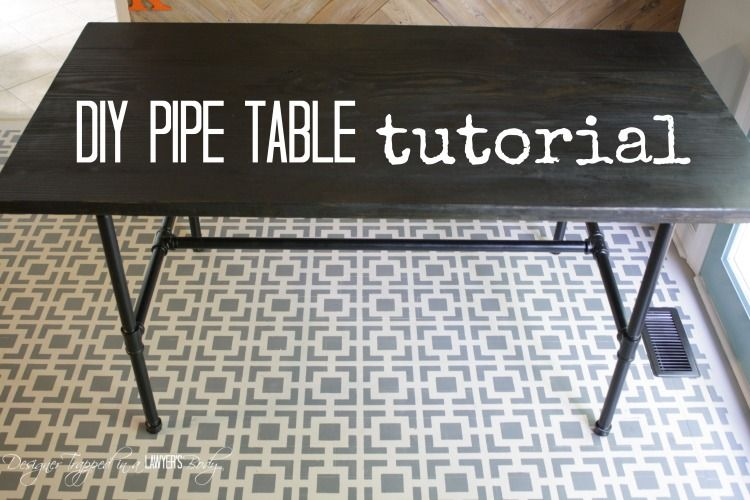 Diy Pipe Table Tutorial Industrial Coffee And End