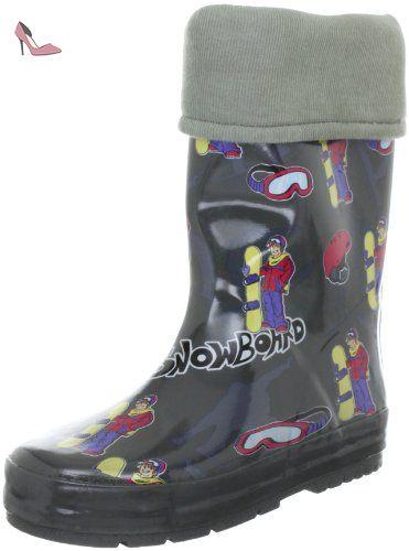 Beck Snowboard 457, Bottes de pluie garçon - Vert, 33 EU - Chaussures beck