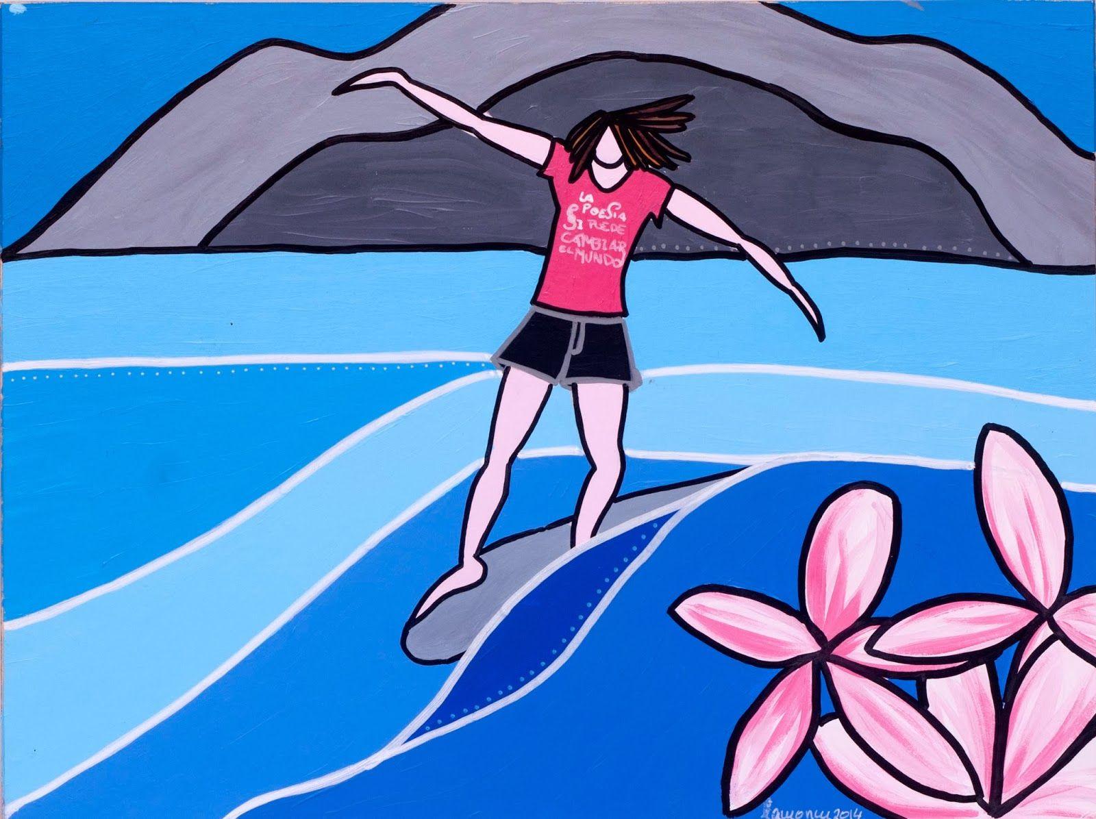 the poet by lamoncu  #surf #art #surfing #painting #drawing #waves #longboard #sea #surfer #artist #paint #artwork #jocreo #posca