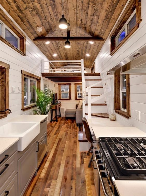 Amazing Interior Design Ideas For Home: 2 Amazing Tiny Homes Interior Design Ideas