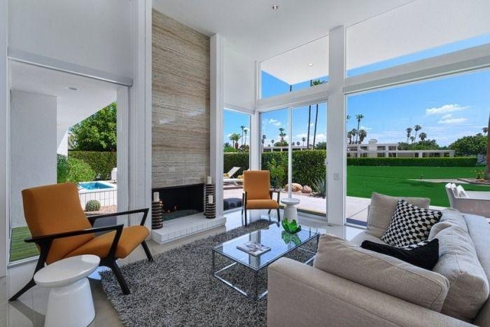 Décoration intérieure réussie du0027une résidence de luxe en blanc Salons