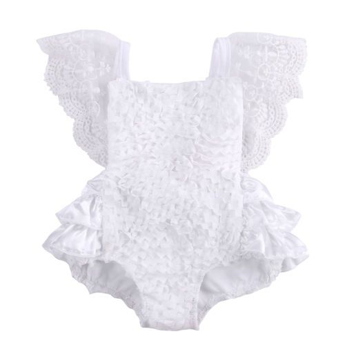 Bebé Infantil Niña Ropa de Encaje Floral Enterito Enterizo Pastel Sunsuit  trajes 0-18M 0c904211b433