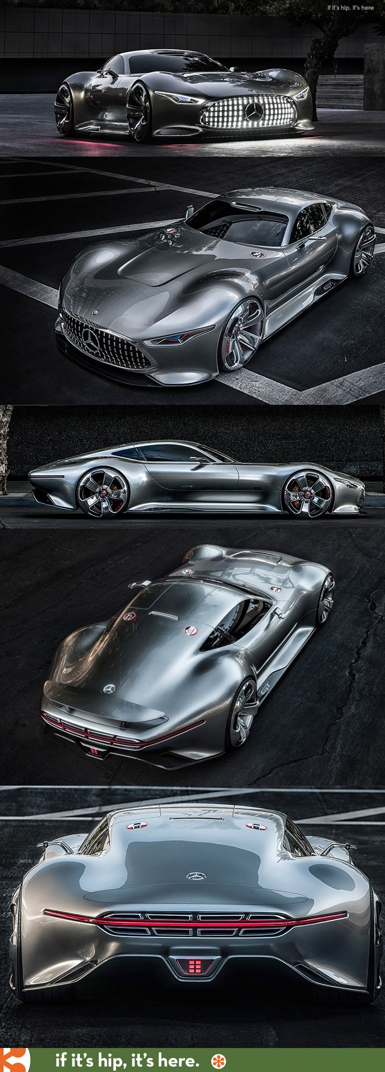 Mercedes-Benz Designs A Wicked Car Inspired by the racing game: Gran Turismo. But somehow, it looks like a Jaguar to me. Thoughts? (J Train)