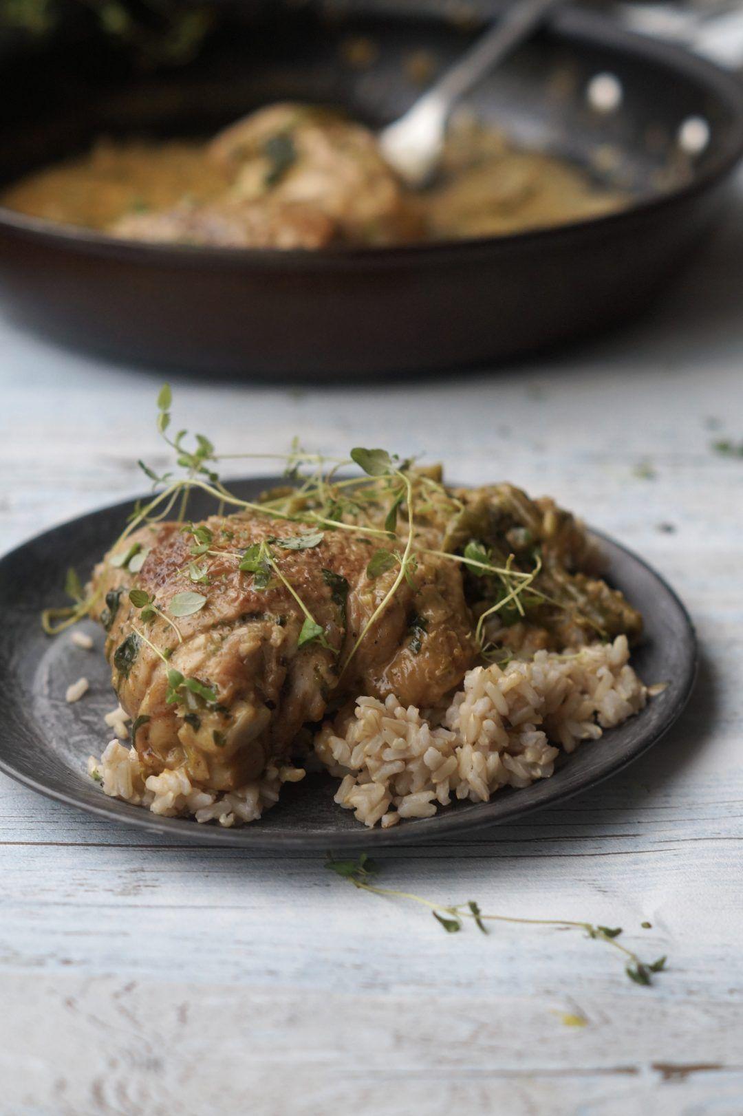 Kylling Med Sovs Og Ris Mad Sunde Retter Food Recipes Meat