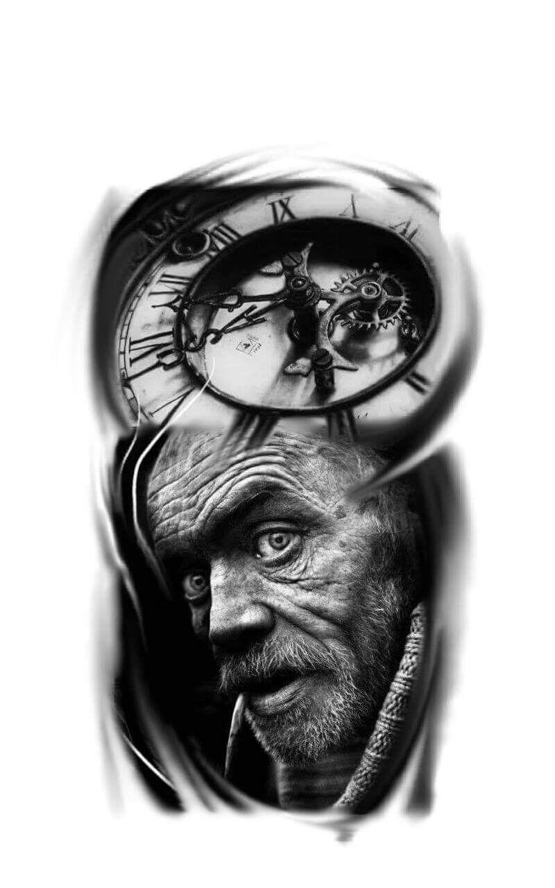 Tatuagem de relogio, clock tattoo