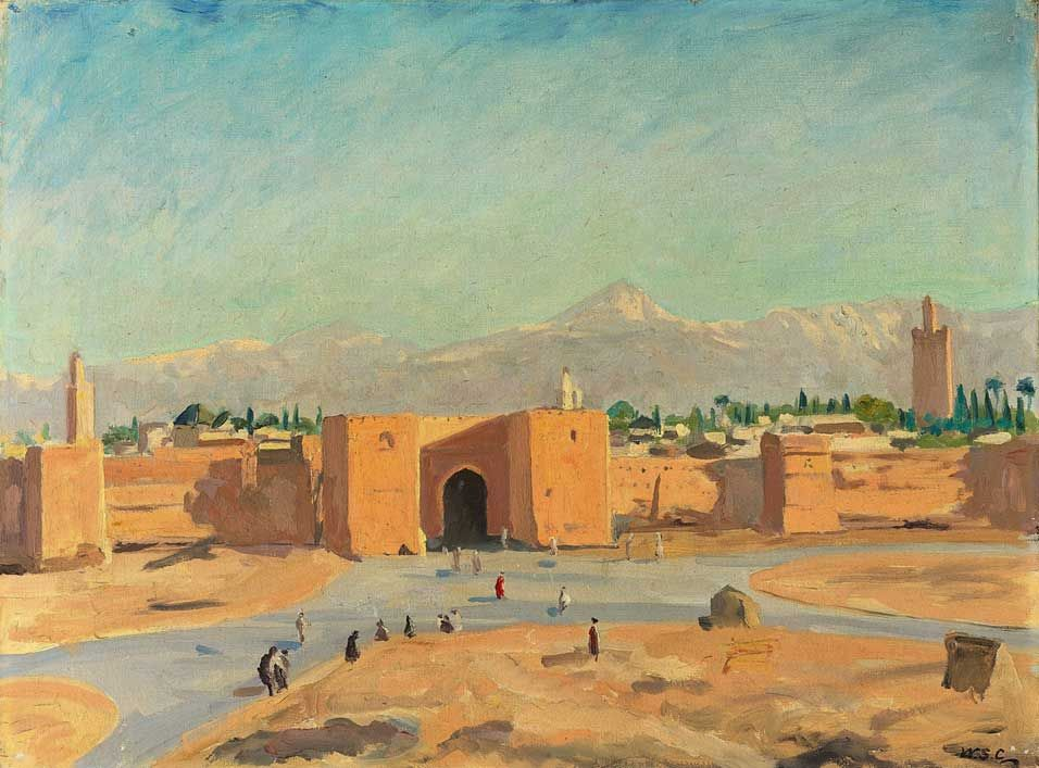 Painted by Winston Churchill - Marrakech | Engle