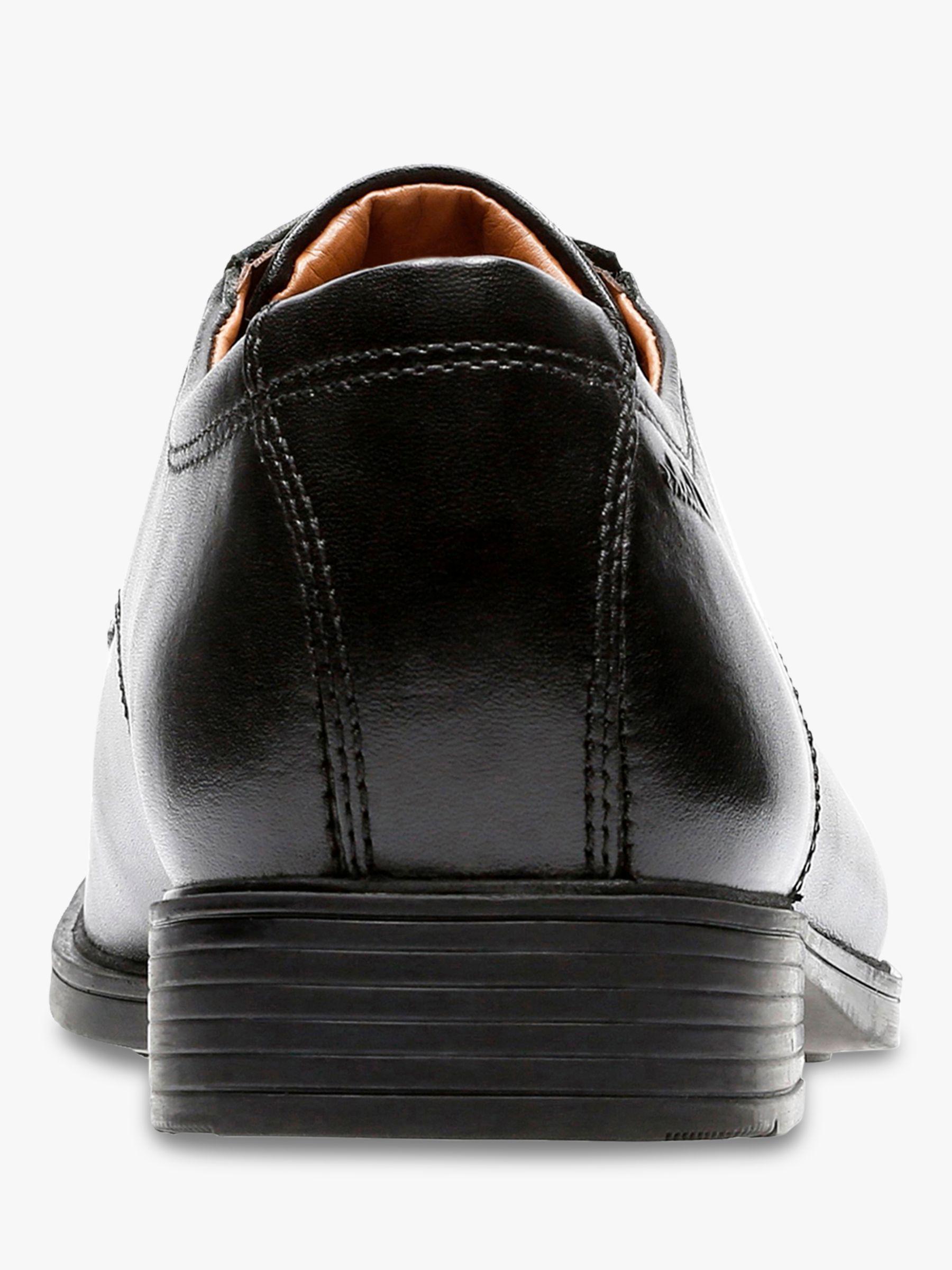 Clarks Tilden Walk Derby Leather Shoes, Black Sorte sko  Black shoes