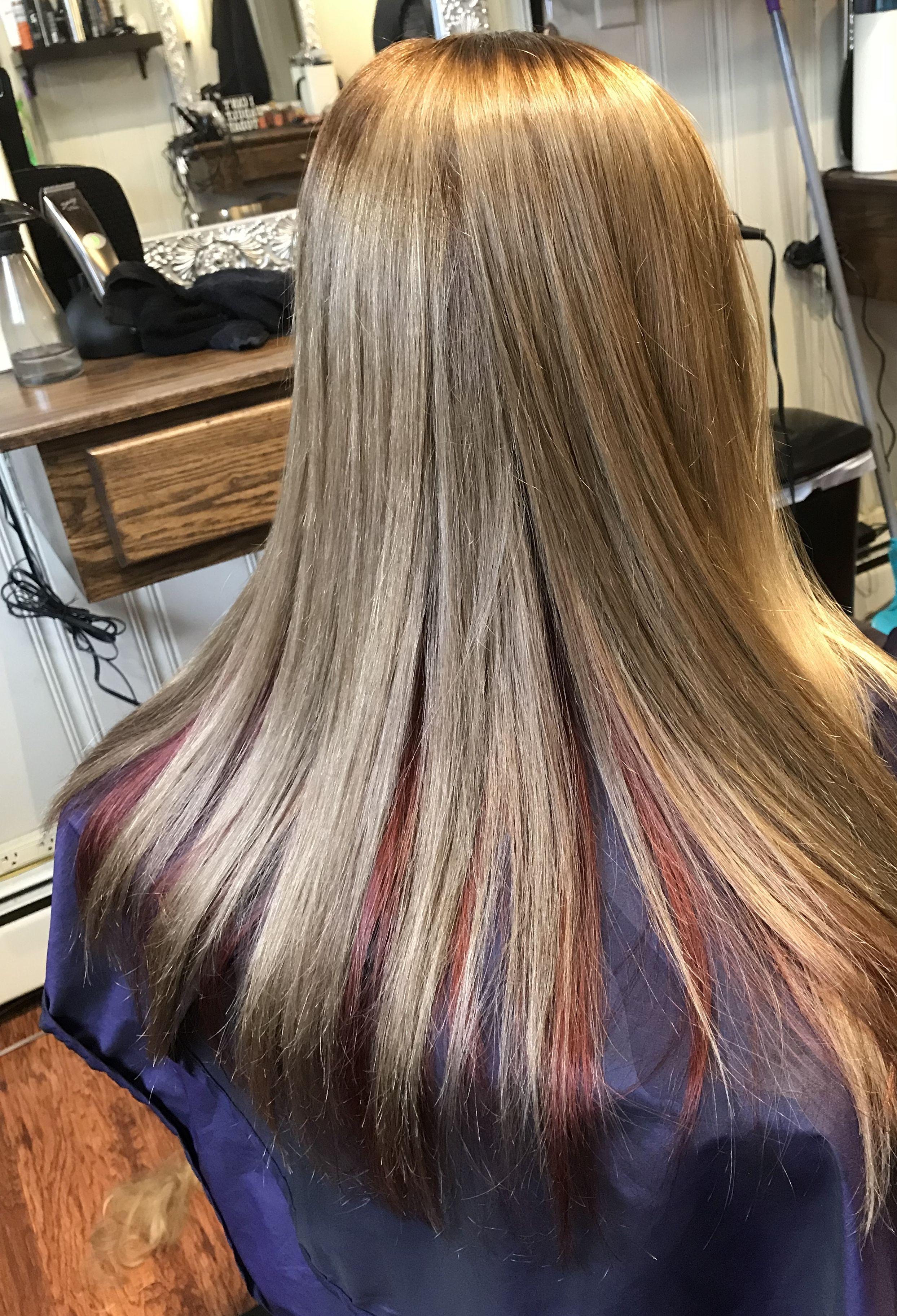 Dark Blonde Hair Color With Red Color Underneath Dark Blonde
