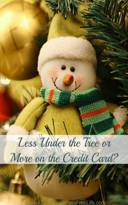 You don't have to go into debt this Christmas. It's more than ok to have less under the tree if ...