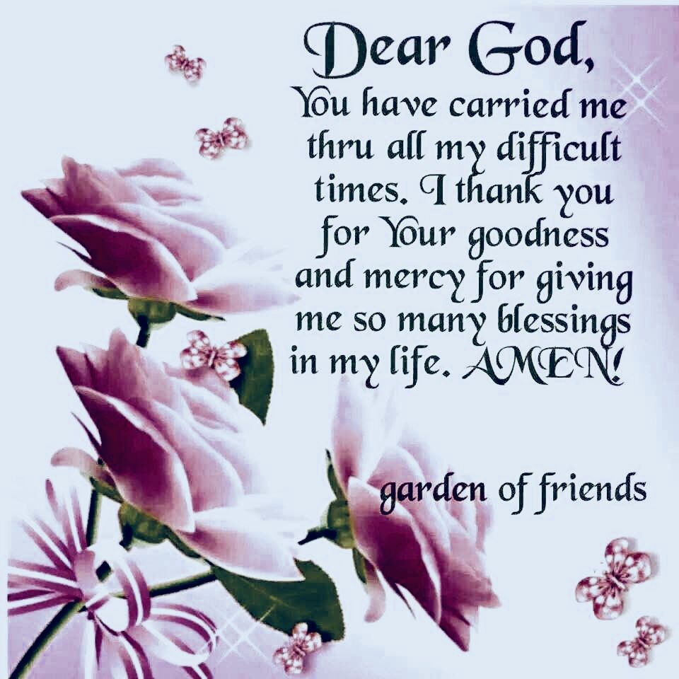 You truly have! Thank You God for never leaving me! (With