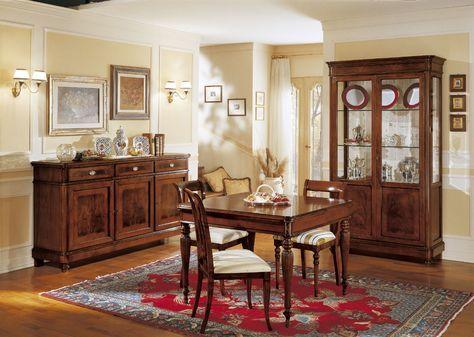 Credenza Camera Da Pranzo : Sala da pranzo con credenza e vetrina art. 890x salotti