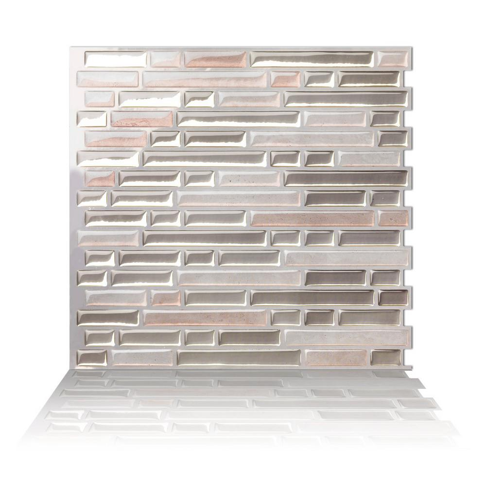 Peel And Stick Decorative Mosaic Wall Tile Como 10 Inw X 10 Inh Multicolor Peel And Stick Decorative