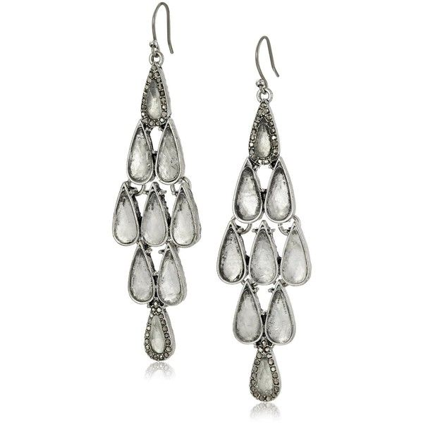 Lucky Brand Clear Major Pave Earrings ($39) ❤ liked on Polyvore featuring jewelry, earrings, clear crystal jewelry, pave jewelry, clear earrings, clear jewelry and lucky brand earrings