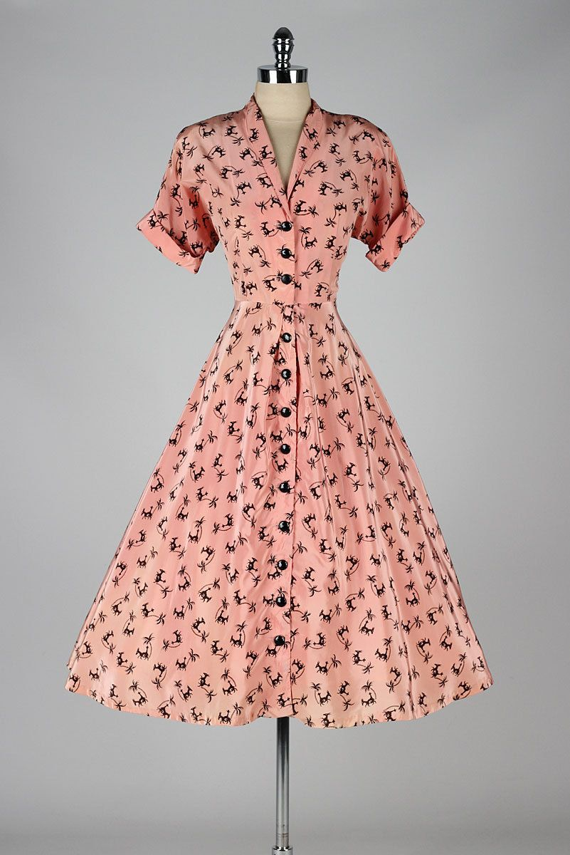 Dress 1950s Mill Street Vintage | 1950\'s | Pinterest | Vestiditos ...