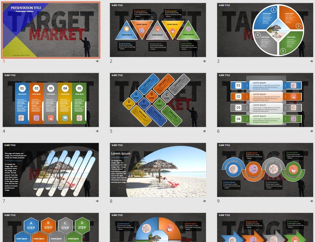 Target market powerpoint by sagefox free powerpoint templates by explore powerpoint free templates free and more toneelgroepblik Images