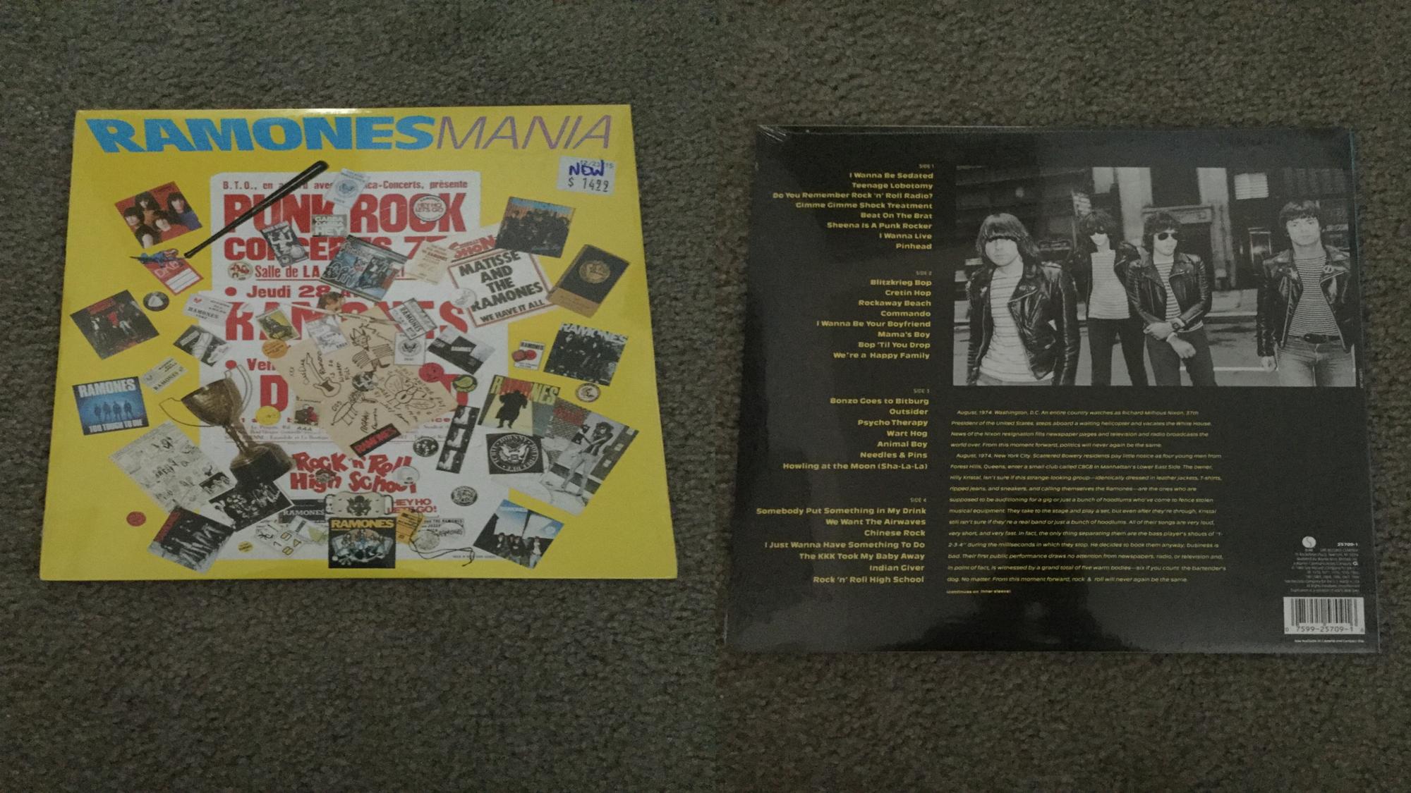 My Ramones Ramones Mania vinyl