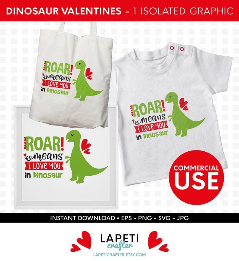 Download Dinosaurio San Valentín SVG, roar significa te quiero en ...