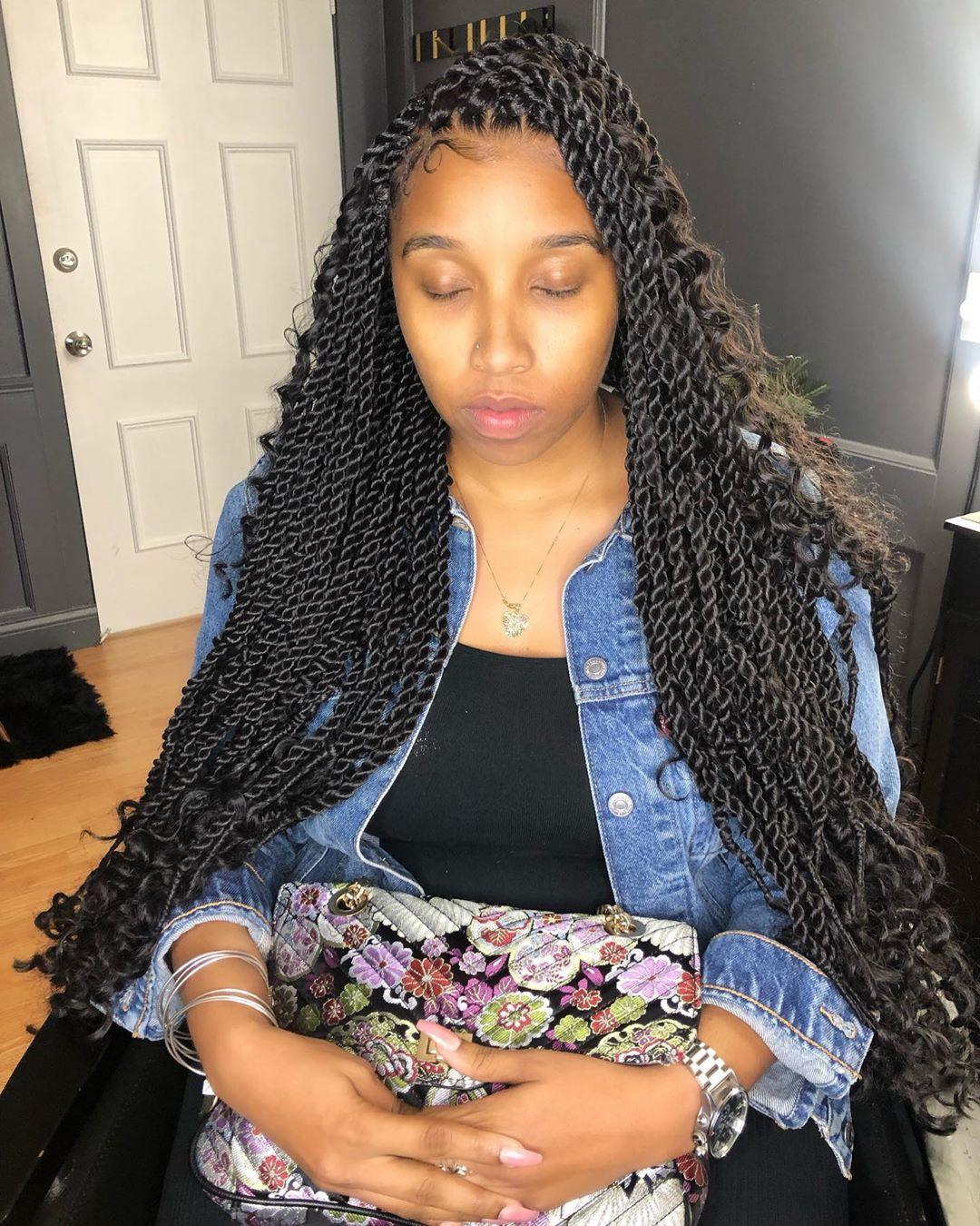 Pin By Jermeria Jackson On Hair Styles In 2020 Havana Twist Braided Hairstyles For Wedding Goddess Twist