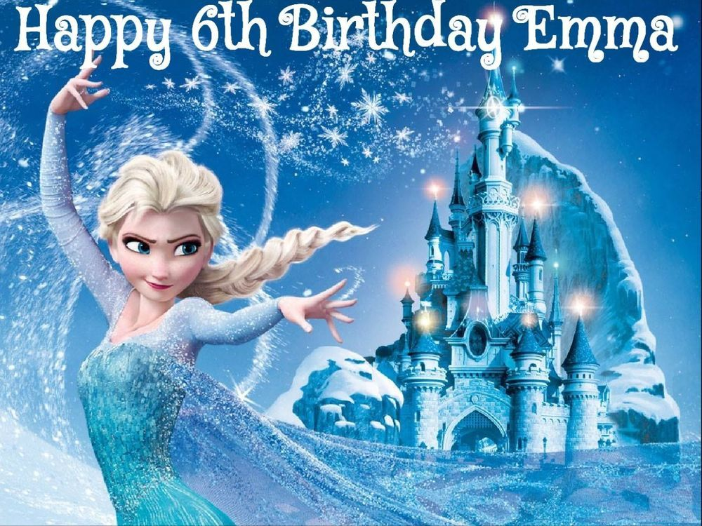 ELSA FROZEN edible Image Cake topper Decoration Birthday party
