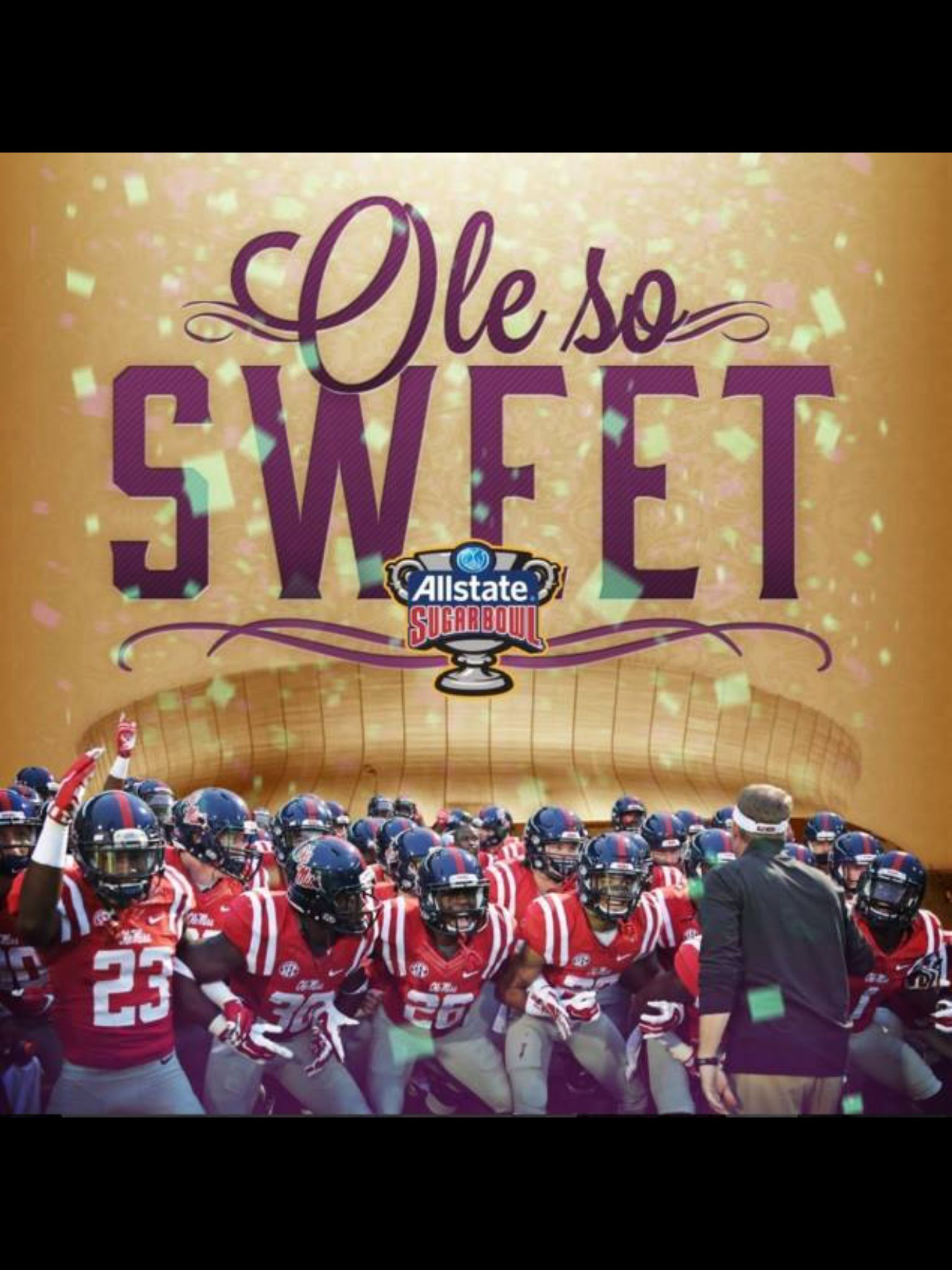 Ole Miss will play the Oklahoma State Cowboys in the Sugar Bowl New Years Day