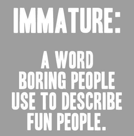 the meaning of immature