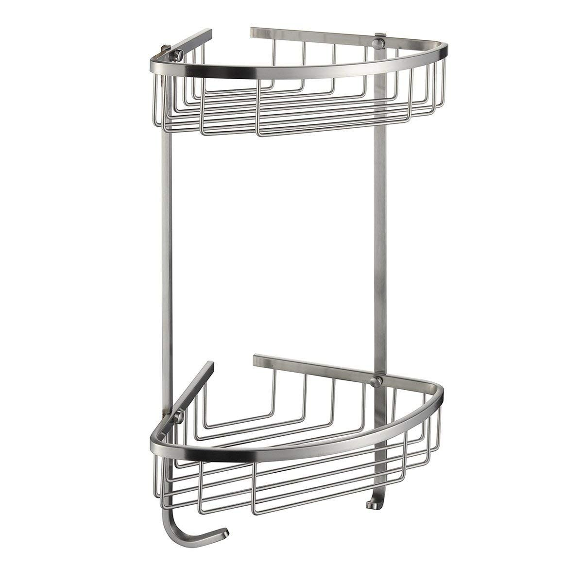 10 Best Corner Shower Caddy In 2020 With Buying Guides With Images Corner Shower Caddy Shower Caddy Stainless Steel Bathroom