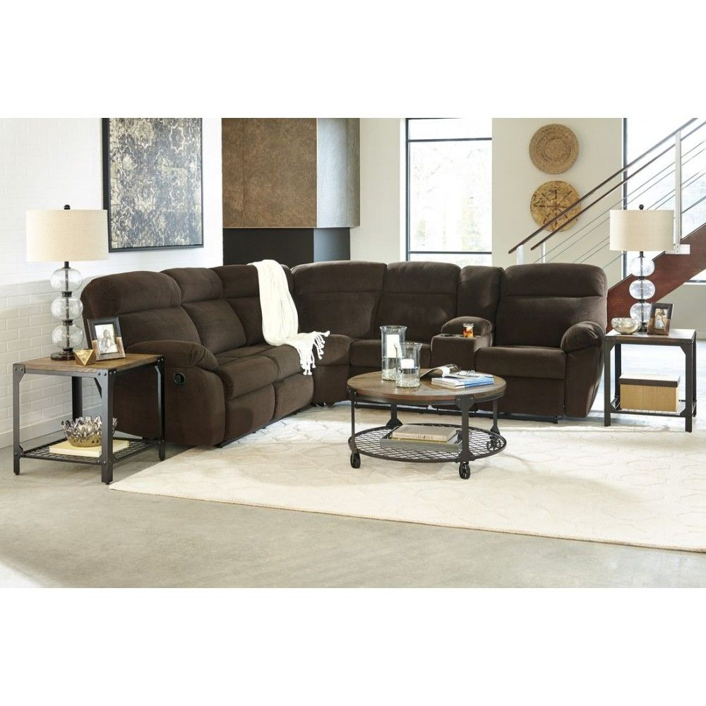 Bernhardt van gogh 2 piece leather sectional ebay - Ashley Furniture Demarion Sectional In Chocolate