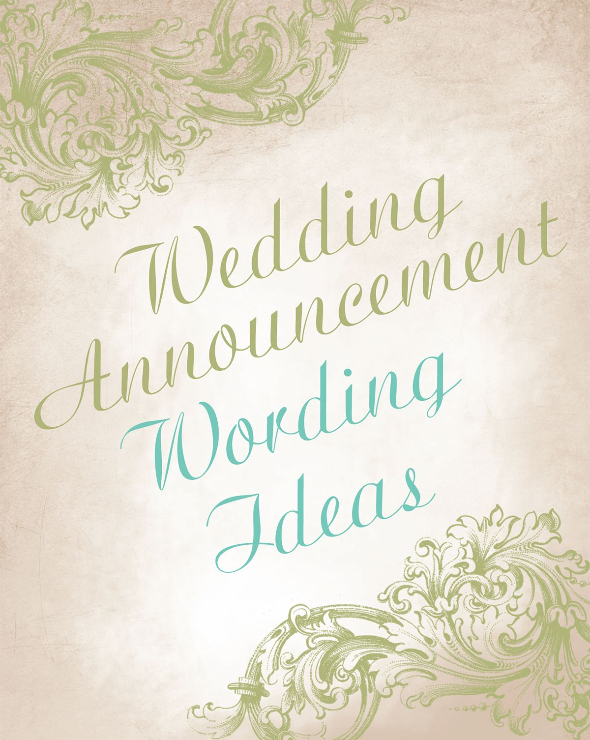 Wedding Announcement Wording Ideas Advice And Invitations By Dawn