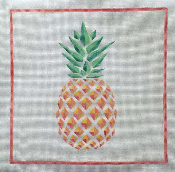 Pineapple Needlepoint Tapestry Kit by NYGNeedlepoint on Etsy