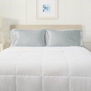 Nestl Bedding Silky Satin Pillowcase for Hair and Skin (Standard 20X26 - Silver)