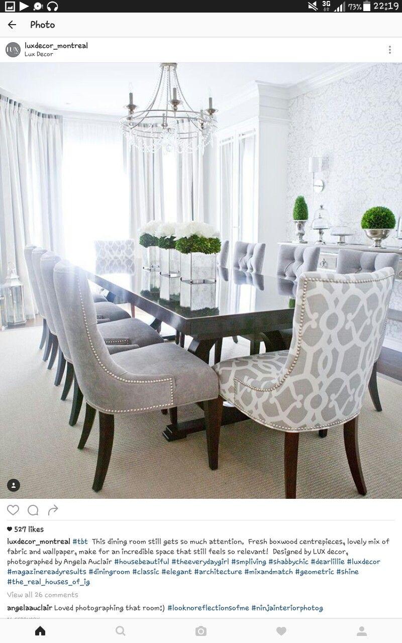 Dine in grey | Casa laura | Sala da Pranzo, Sala da pranzo moderna e ...