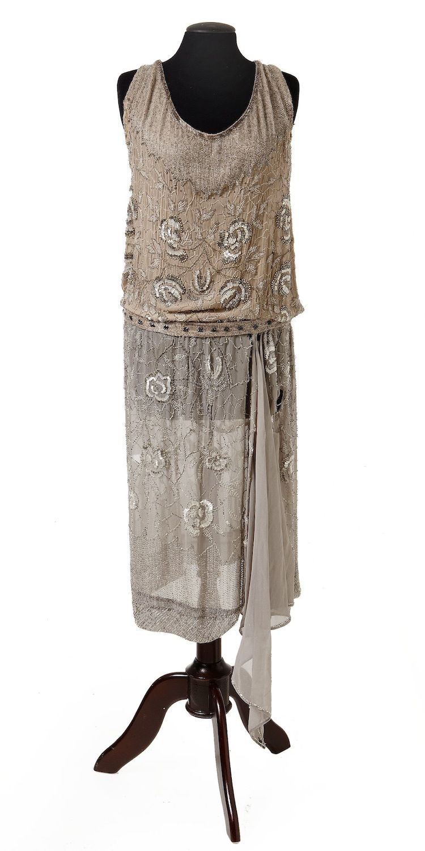 Evening dress, 1920's From Stockholms Auktionsverk