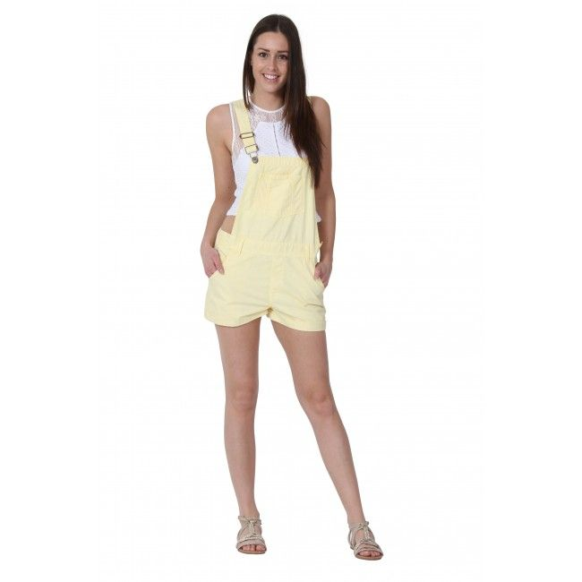 2089f5a38bc USKEES ANNA Lemon yellow Dungaree Shorts.  overalls  LoveUS ...
